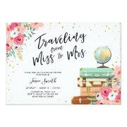 Travel Themed Bridal Shower  Miss To Mrs