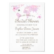 Travel Wedding Watercolor World Map Bridal Shower