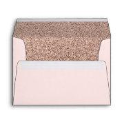Trendy Faux Glitter Rose Gold Elegant Envelope