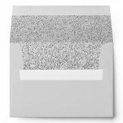 Trendy Silver Glitter Elegant Modern  Envelope