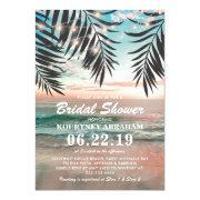 Tropical Beach Bridal Shower | String Of Lights