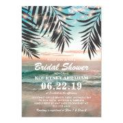 Tropical Beach Bridal Shower | String Of Lights Invitation