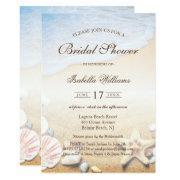 Tropical Beach Wedding Starfish Bridal Shower Invitation