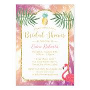Tropical Pineapple & Palm Trees Bridal Shower