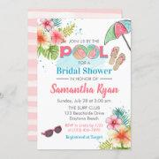 Tropical Poolside Summer Bridal Shower Invitation