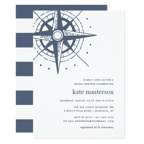 True North | Nautical Bridal Shower Invitation