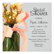 Tulip Boho Chic Spring Bridal Shower Invitations
