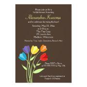 Tulip Flower Bridal Shower Invite