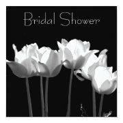 Tulips, B&w Bridal Shower