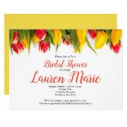 Tulips Red Yellow Bridal Shower Invitation