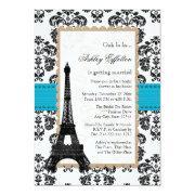 Turquoise Eiffel Tower Parisian Bridal Shower