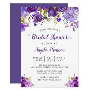 Ultra Violet Purple Floral Romantic Bridal Shower