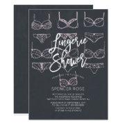 Unique Chalkboard Lingerie Shower Invitations