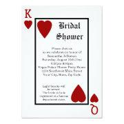 Vegas Playing Card King/Queen Bridal Shower Custom Invitation