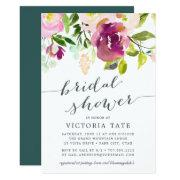 Vibrant Bloom Watercolor Bridal Shower