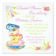 Victorian Stacked Tea Cups Tea Party Bridal Shower