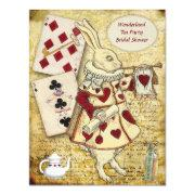 Vintage Alice in Wonderland Rabbit Bridal Shower Personalized Invitations