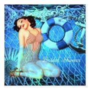 Vintage Anchor Mermaid Beach Bridal Shower