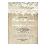 Vintage Bridal Shower Invitation | Antique Lace