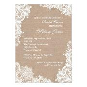 High Quality Vintage Burlap And Lace Bridal Shower