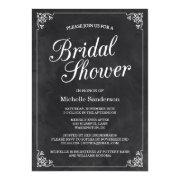 Vintage Chalkboard Bridal Shower