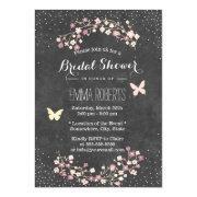 Vintage Chalkboard Butterfly Floral Bridal Shower