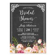 Vintage Chalkboard Frame Floral Bridal Shower