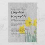 Vintage Daffodils Bridal Shower Invitations