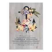 Vintage Floral Anchor   Elegant Bridal Shower