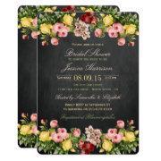Vintage Floral Chalkboard Bridal Shower