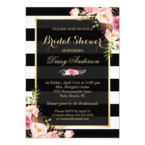 Vintage Floral Decor For Wedding Bridal Shower Invitations