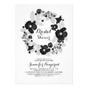 vintage flowers wreath elegant bridal shower cards