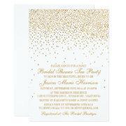 Vintage Glam Gold Confetti Bridal Shower