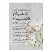 Vintage Gypsophilia Bridal Shower Invitations Custom Invite