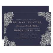 Vintage Lace Bridal Shower Invitations