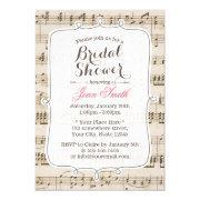 Vintage Music Sheet Bridal Shower