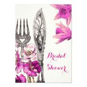 Vintage Pink Cutlery Poppy Daffodil