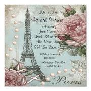 Vintage Pink Paris Bridal Shower