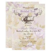 Vintage Purple Floral Bridal Tea Party Invites