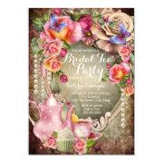 Vintage Rose Pearl Bridal Tea Party