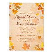 Vintage Rustic Autumn Leaves Wedding Bridal Shower