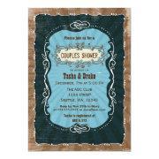 Vintage Shabby Chic Rustic Bridal Shower Invites