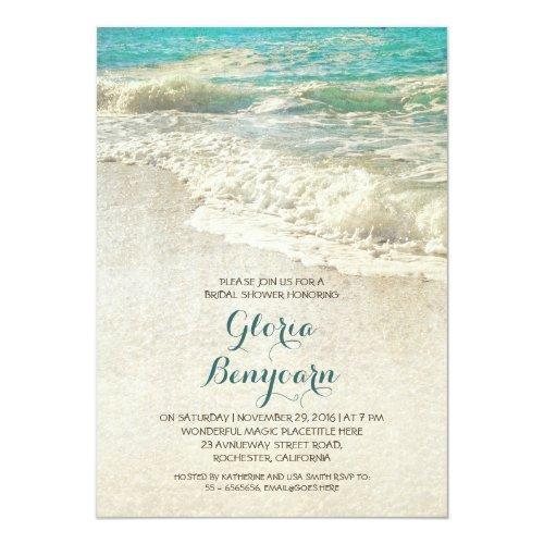 Vintage Teal Sea Beach Bridal Shower