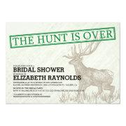 Vintage The Hunt is Over Bridal Shower Invitations Invites