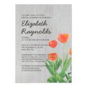 Vintage Tulips Bridal Shower Invitations Invite
