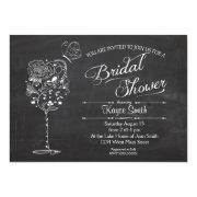 Vintage Wine Glass Bridal Shower