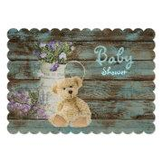 Vintage Wood Teddy Bear Bridal Shower