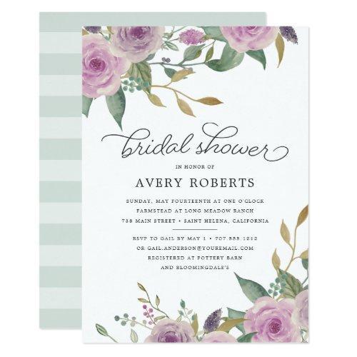Violet & Sage Bridal Shower Invitation