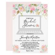Virtual Bridal Shower Floral Invitation