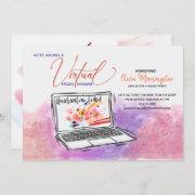 Virtual Bridal Shower Quarantin-i Time Invitation